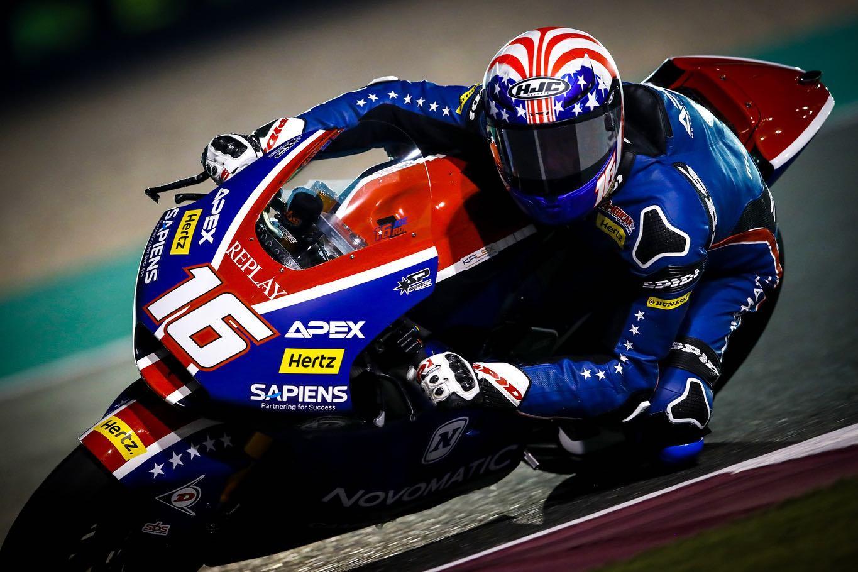 Pole de Moto2 para Joe Roberts en Catar tras calcar el crono a Luca Marini