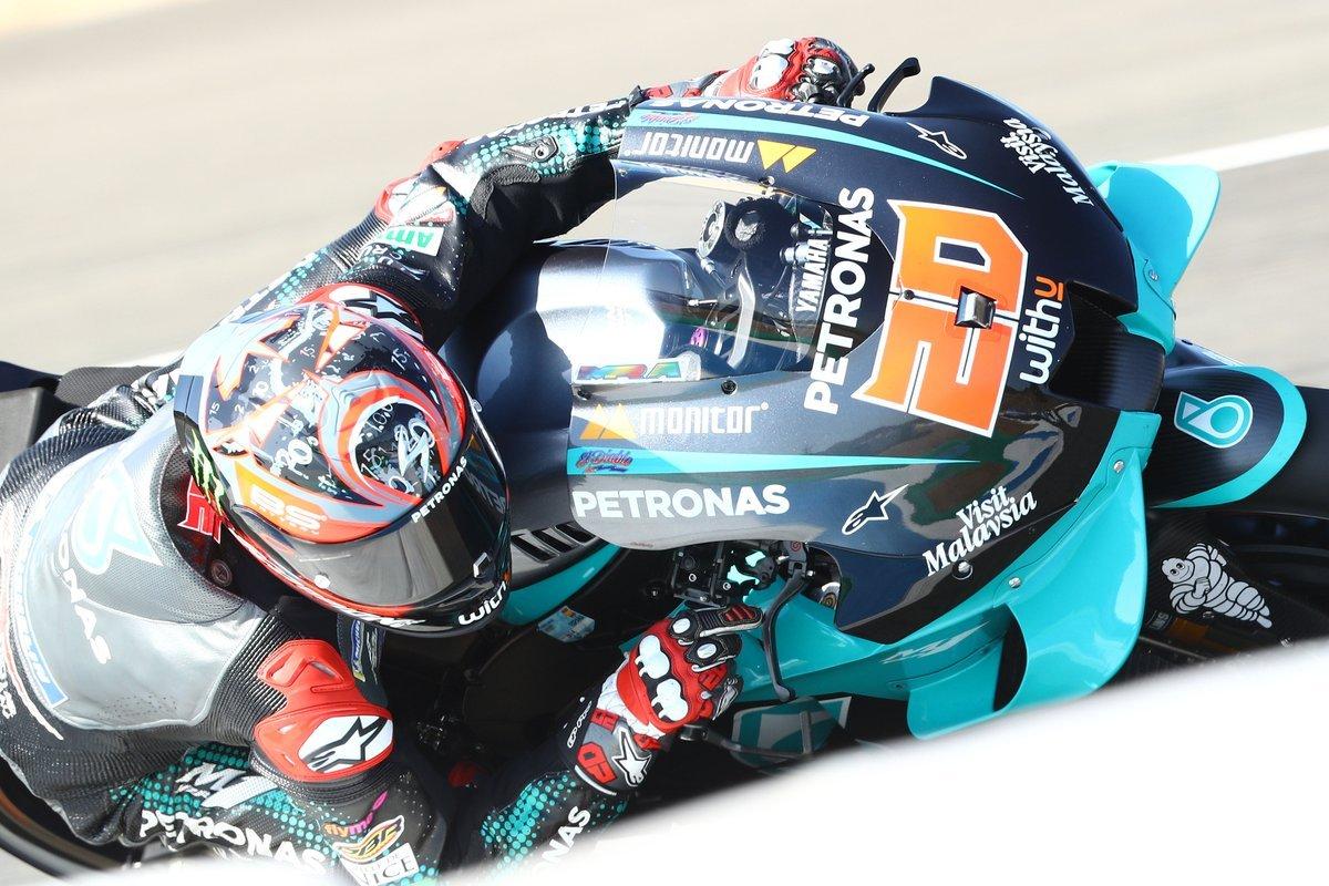 Matrícula de honor para Fabio Quatararo en Jerez con podio para Valentino Rossi