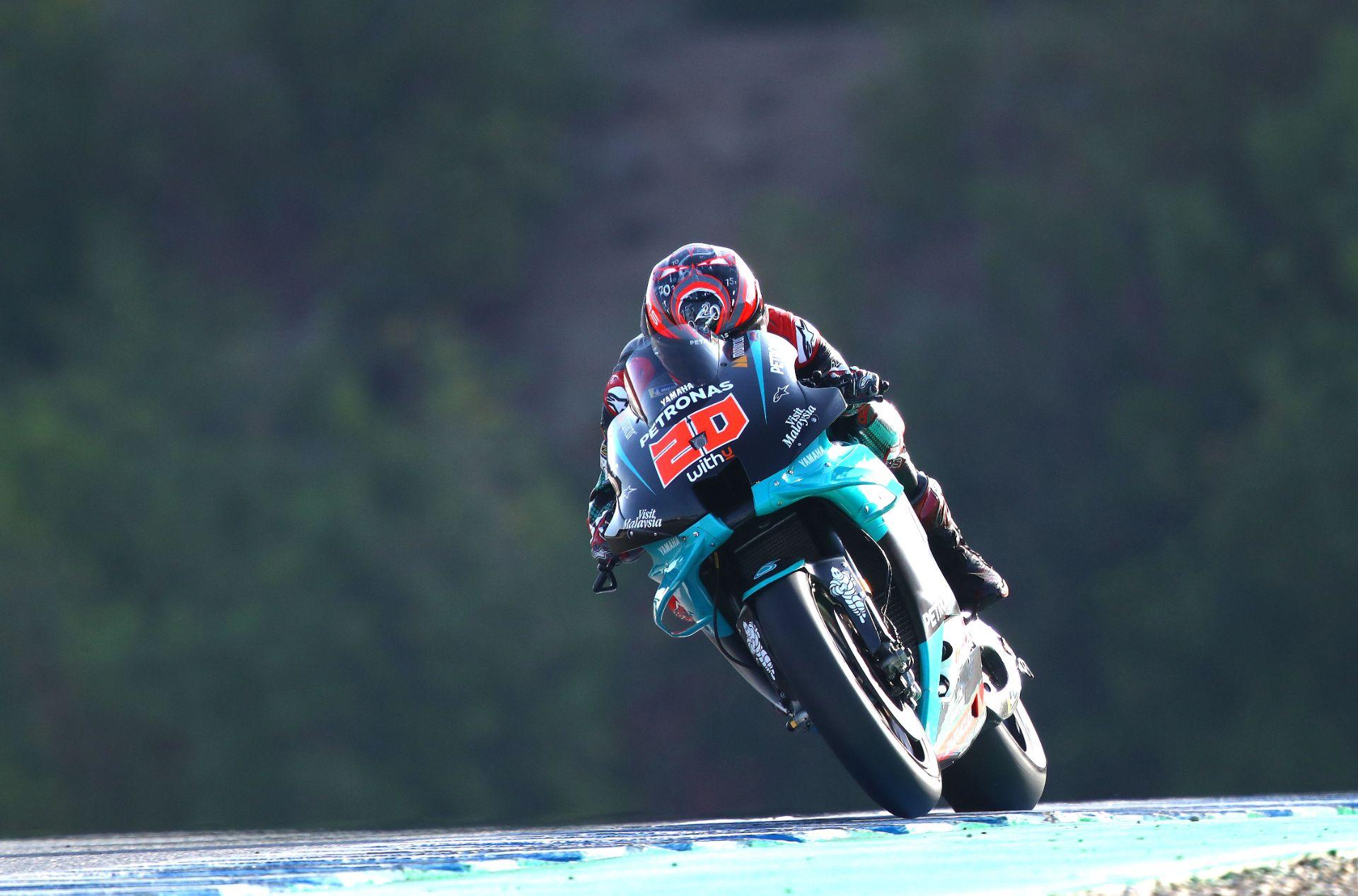 Fabio Quartararo firma pleno de poles en Jerez y Marc Márquez no correrá