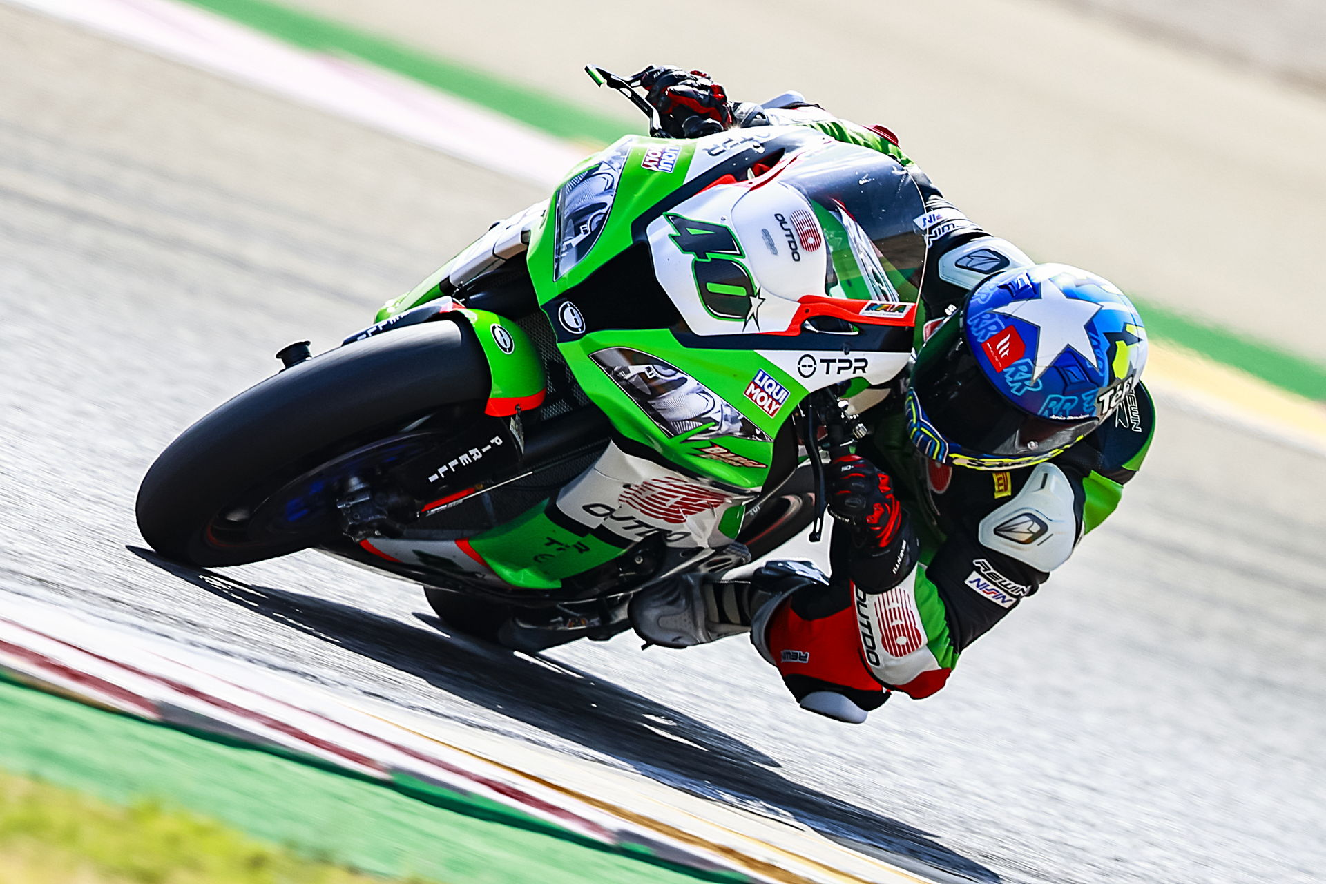 Román Ramos disputó su carrera 100 en el Mundial de Superbike