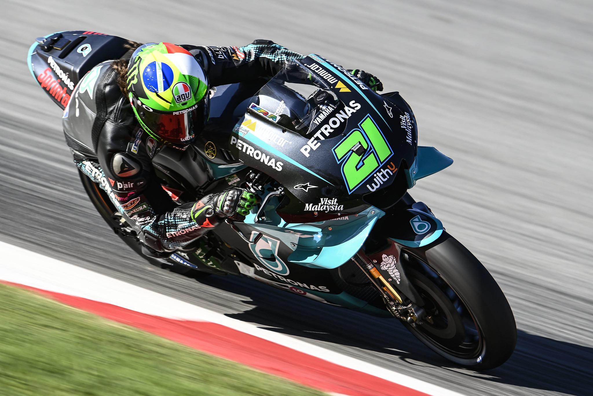 Pole para Franco Morbidelli con dominio casi total de Yamaha en Montmeló