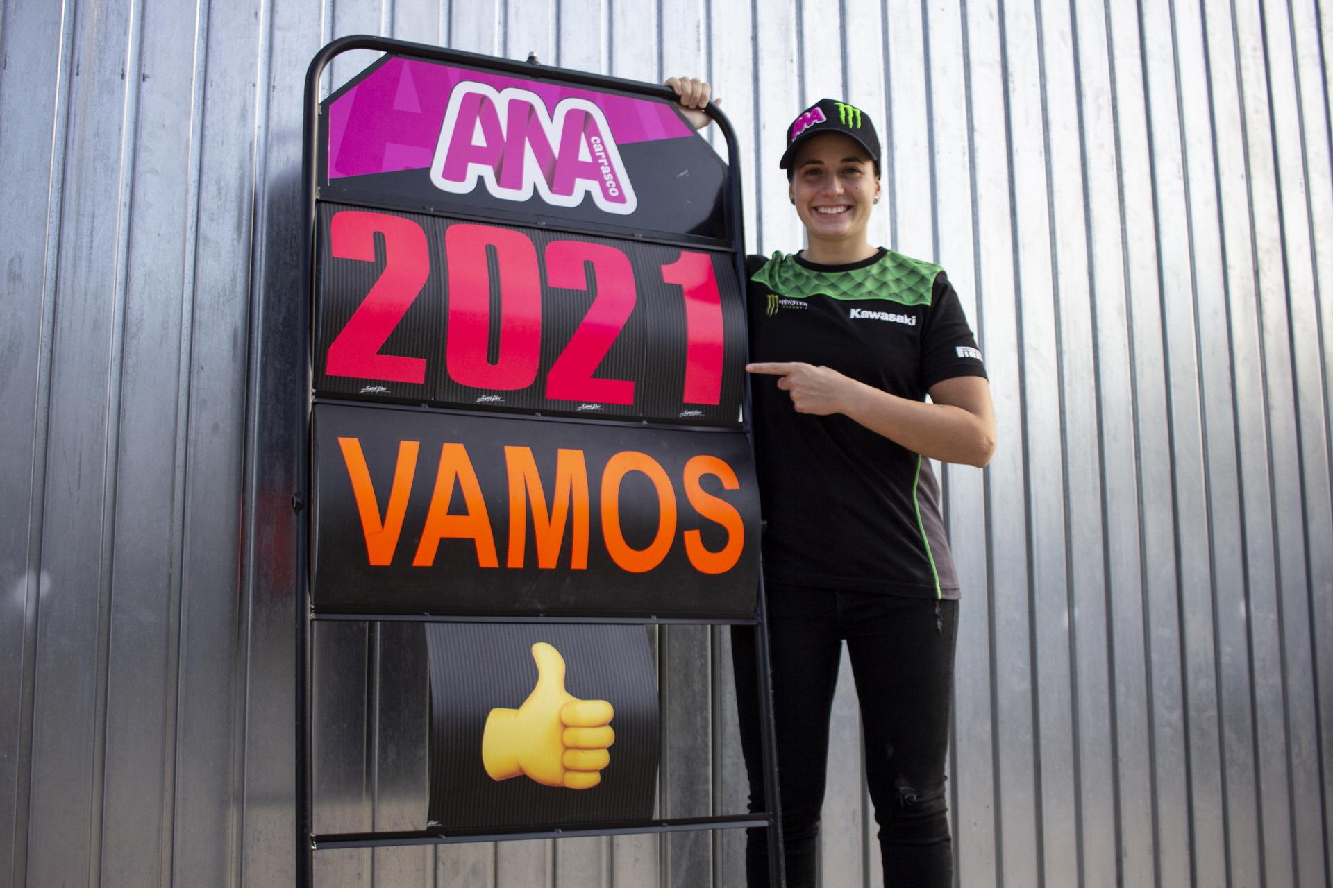 "Ana Carrasco: ""Estoy bien, espero poder subir a la moto a finales de febrero"""