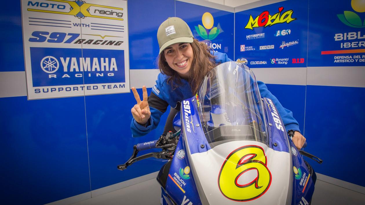 WorldSSP: María Herrera competirá con apoyo de Yamaha en el Biblio Motoxracing