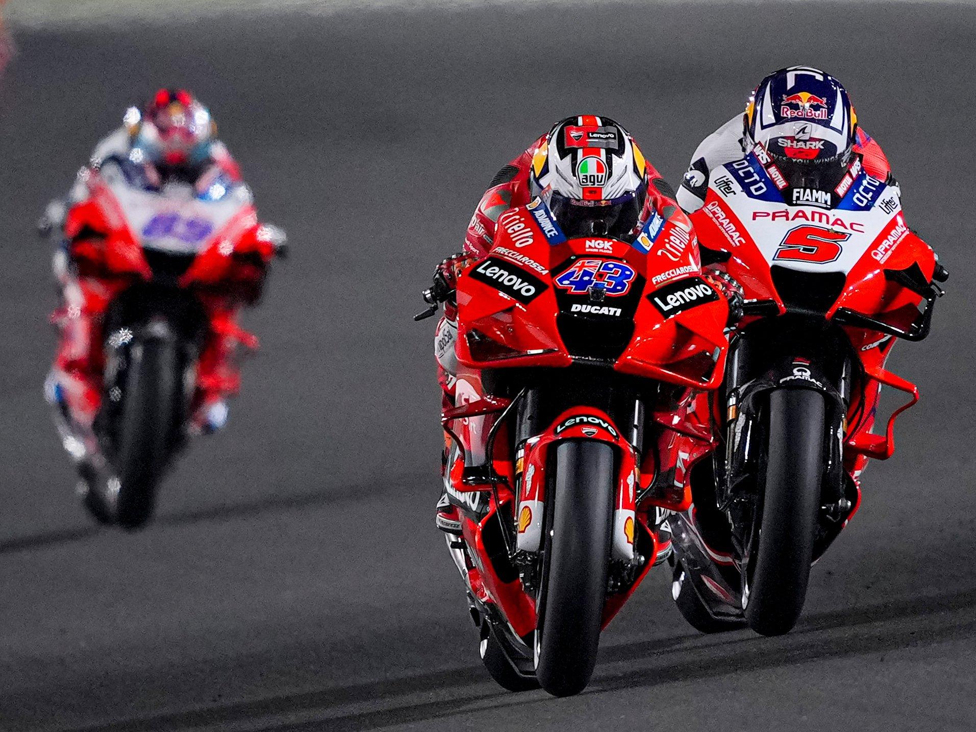 Video: así salieron los misíles Ducati en Catar