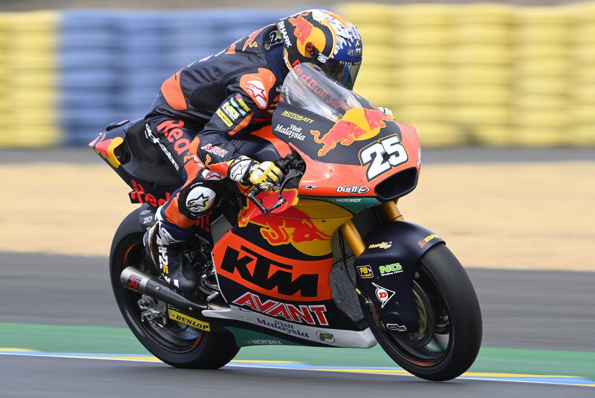 """Francia. Primera pole para Raúl Fernández en Moto2: """"ayer se me dió fatal"""". Clasificación y declaraciones"""