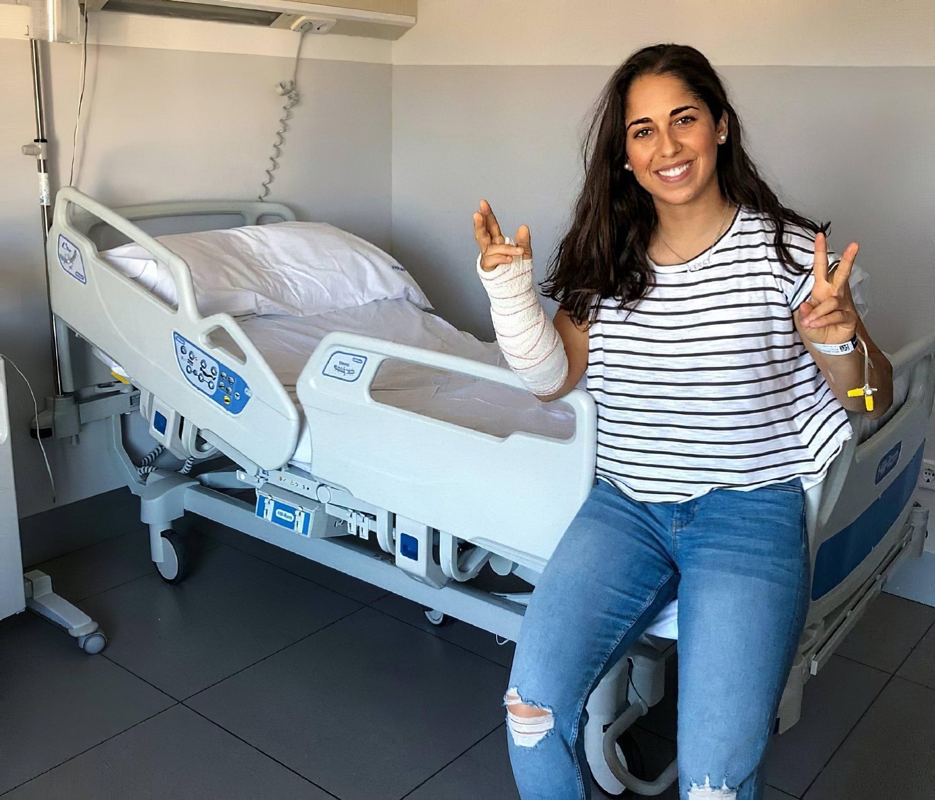 María Herrera operada de síndrome compartimental