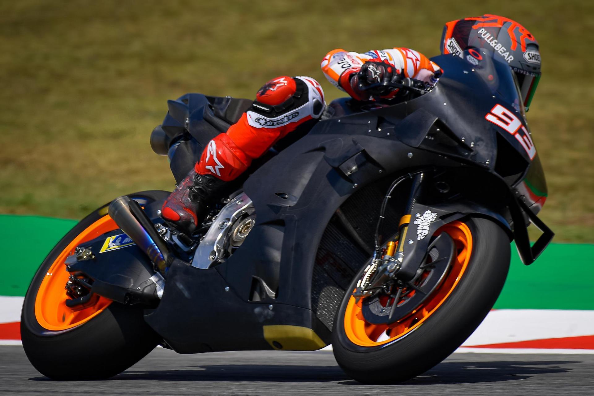 Test MotoGP Montmeló: otro lunes para Viñales y mucho trabajo en Honda. Tiempos y galería de fotos