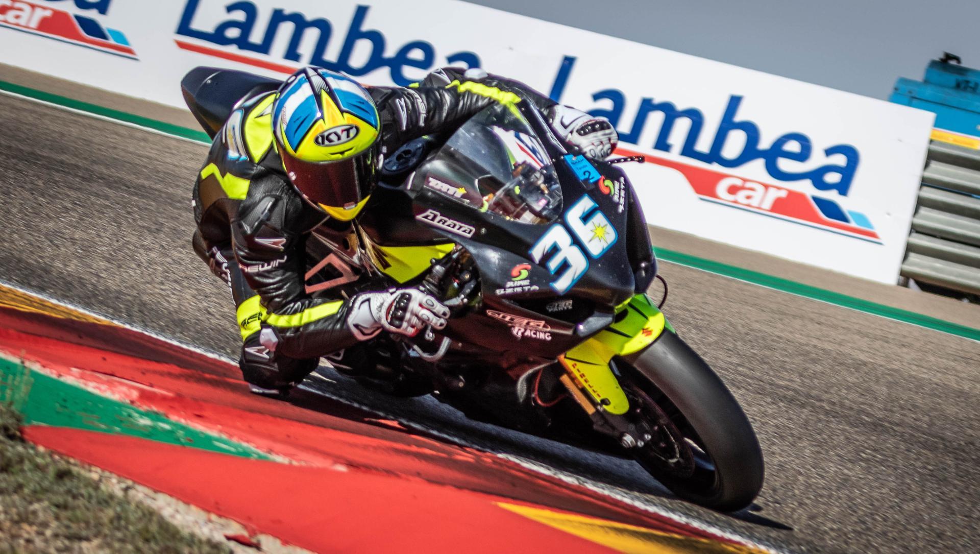 Tati Mercado, con Suzuki JEG Racing en Motorland