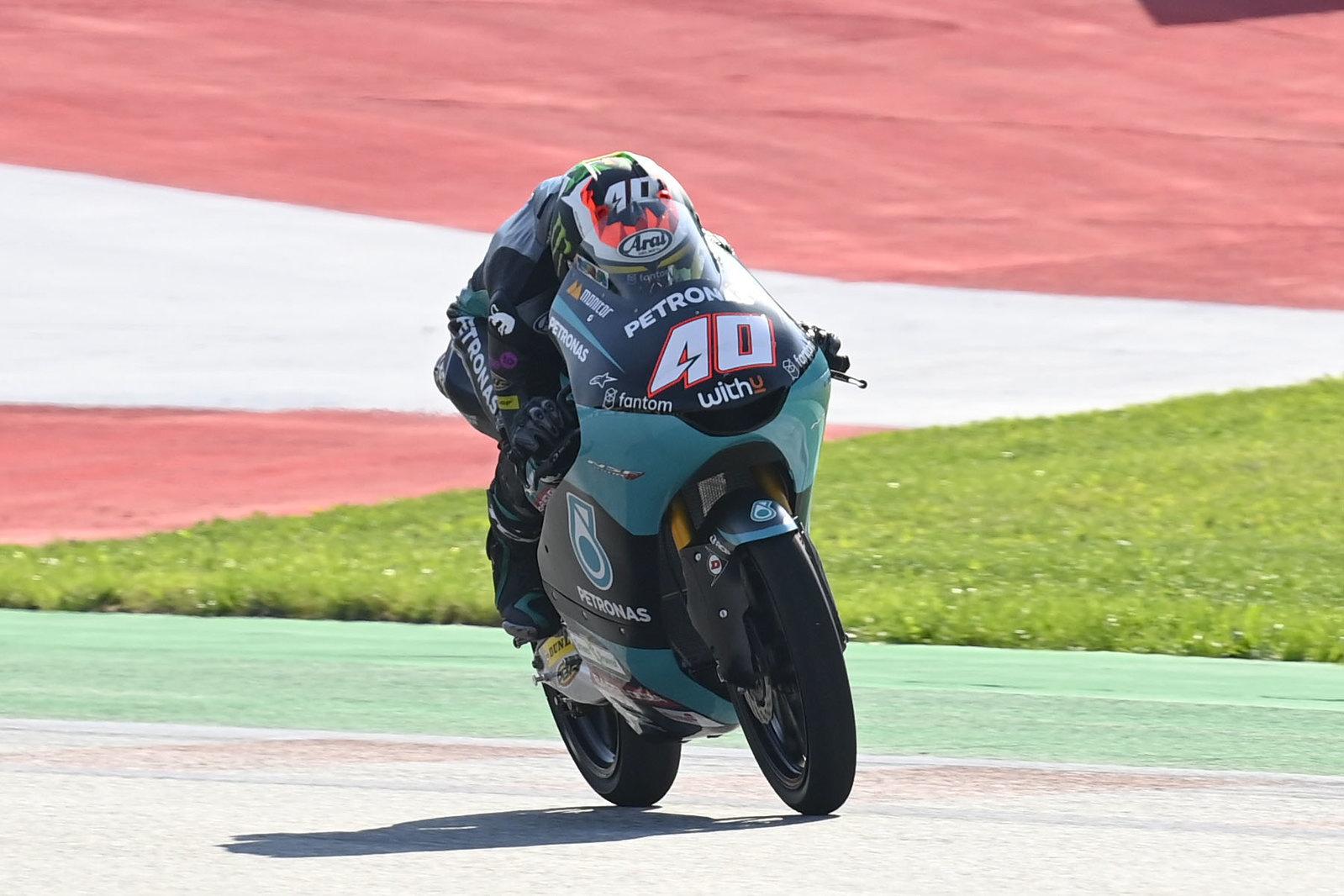 Clasificación combinada del viernes en Moto3: Darryn Binder lidera, Acosta tercero.
