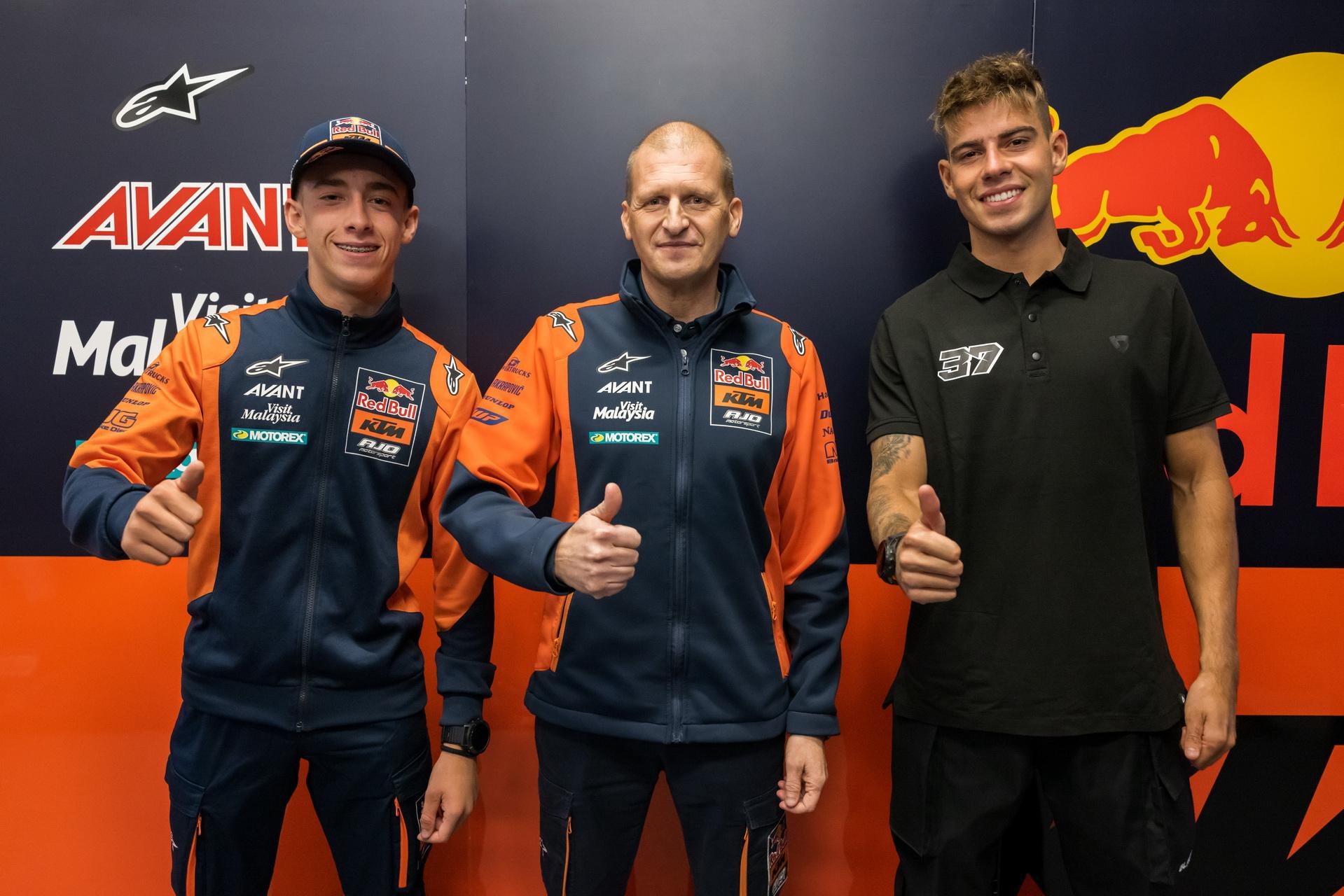 Pedro Acosta y Augusto Fernández con Red Bull KTM Ajo en Moto2 para 2022