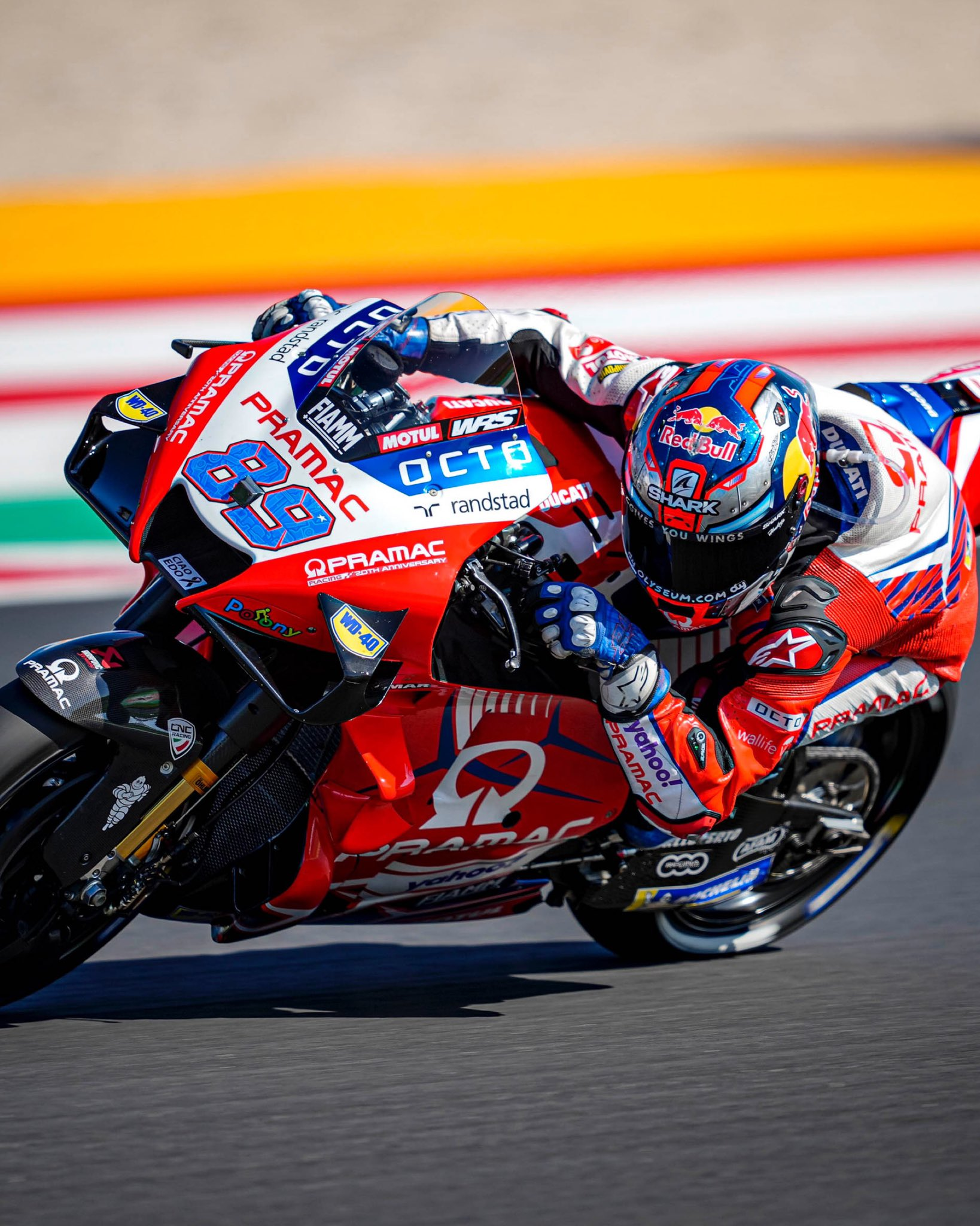 Jorge Martín ya prueba piezas para Ducati