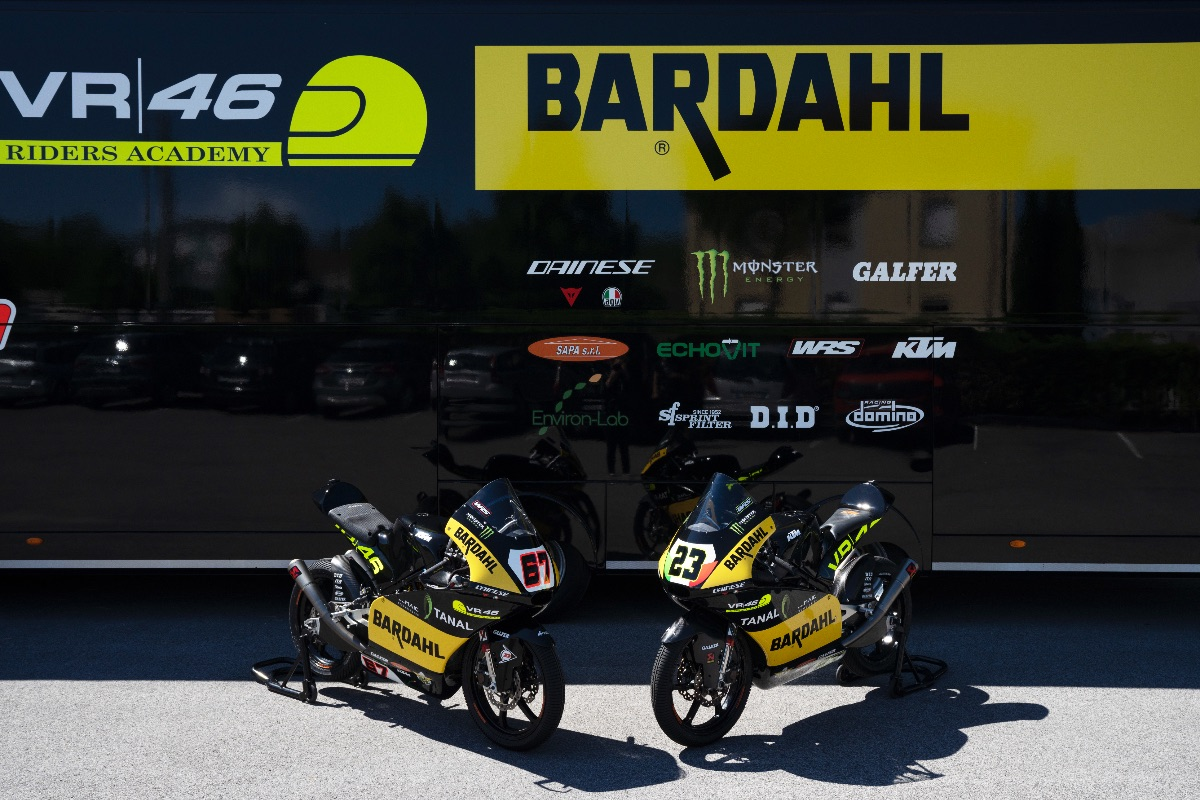 El Bardahl VR46 Academy hará Wild Card en Misano con Elia Bartolini y Matteo Bertelle